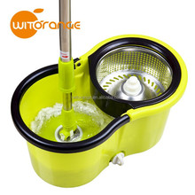 New design stainless steel basket cleanning 360 dgree rotatable mop