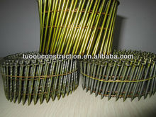 screw flat polised coated coil nai/coi nails/wire nails