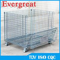 storage box/wire rolling storage cage/wire mesh pallet cage