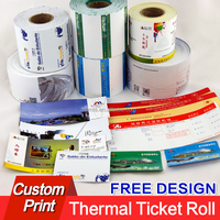 High quality thermal tickets entrance printing paper production free design