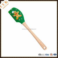 Various Colors Christmas Printing Silicone Scraper Butter Spatula Baking Tools