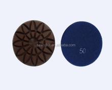 "4"" Sunflower Velcro Backed Granite Polishing Pad"