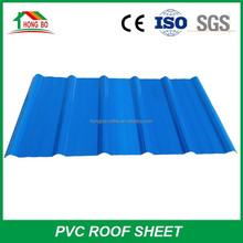 Highly Fire Resistance PVC Corrugated Roofing Sheet