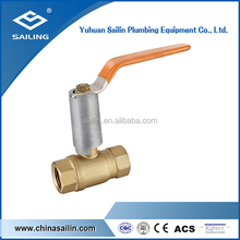 F/F brass forged long neck ball valve