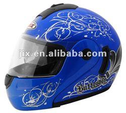 2015 DOT Flip-up Helmet with double visor JX-A111-1