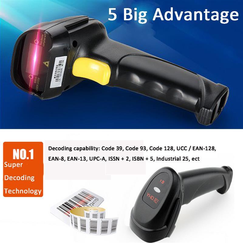 Portable 1d Laser Scanner Usb Barcode Scanner Reader ...