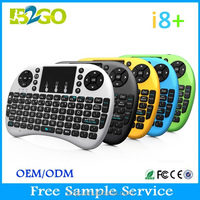 Rii i8+ 2.4G Wireless gaming Mini Keyboard for Android TV Box PC with Multi touch up to 15 Meter touch pad