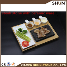 Black steak grill lava cooking stone/Grill stone for barbecue