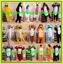 super suave de franela de los animales al por mayor de cosplay bodies pijama niños pijamas