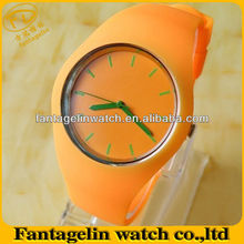 Orange Juice Advertising Silicone wristwatches