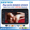 ZESTECH 2 din hd touch screen gps in car dvd for Alfa Romeo Spider car gps navi with bluetooth radio fm am usb sd all in one
