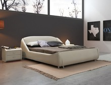 Modern Grey Color New Model Bed Room Furniture Leather Not Four Poster Bed