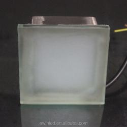 RGB Color Glass LED Brick Light 10*10cm for Garden Lighting