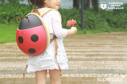 Souvenir camping use ladybug kids backpack personalized