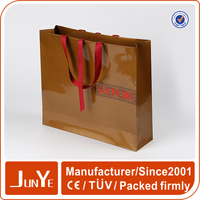300g newest shopping large art paper bag with handles for sale