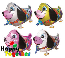 HAPPY TOGETHER Factory Wholesale Cheap Child Walking Dog Pet Shape Foil Balloons