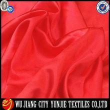 Poliéster elástico tejido satinado/sólido elástico de satén tela/elástico de satén tela
