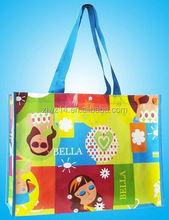 cheap fashion reusable promotional bag/ bag for shop/ easy carry non woven shopping bag