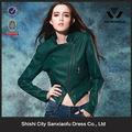 kadın deri ceket 2015 yeşil rüzgarlık motosiklet deri ceket bombacısı üniversite ucuz kadınlar için deri ceketler