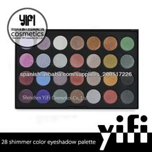 Al por mayor! 28 shimmer sombras de ojos maquillaje paleta de sombra de ojos