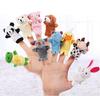 New design funny animal cartoon mouse plush finger puppet customized stuffed finger toys