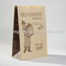 Classical design, brown craft paper bag for sandwich, bread, cake