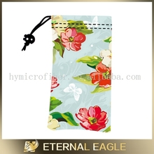 factory pvc cosmetic bag /microfiber pouch with drawstring/microfiber eyeglass drawstring pouch