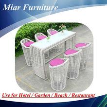 Poly rattan furniture home wine bar furniture set 404005