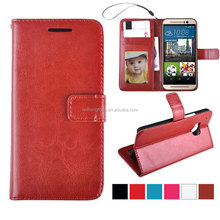 Luxury mobile leather flip cover for HTC ONE M9