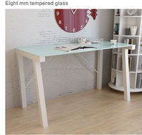 fashion Glass Stainless Steel Computer Desk/Table