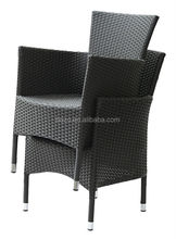 Hotsell stacking outdoor rattan chair/ high quality wicker dining chairs/ pupular stackabel rattan chair