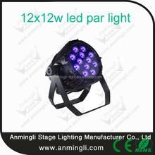 Professional 12x12w led par light stage band club