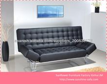 Diseños de cuero moderno sofá-cama