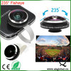 Circle Clip 235 degree Super Fisheye Lens For HTC m7 Samsung Galaxy S2 S3 S4 S5 S6 Note 2 Note 3 note 4