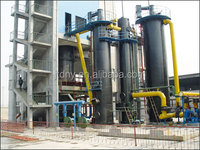 Double piece 2000 ton coal gasifier for haeting rotary kiln