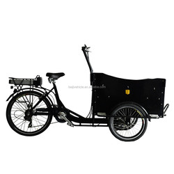 CE bakfiets front loading three wheel cargo trike for pizza price china for selling