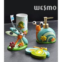 Children style polyresin bathroom accessories