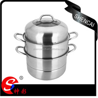 High Quality Stainless steel Steamer 2 in 1/steamer pot /Stock pot/ Sauce Pot