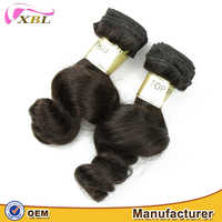 XBL hair can be colored well loose wave short hair weave Brazilian virgin human types weave