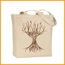 2015 Wholesale Reusable Eco Friendly Tote Canvas Shopping Bag
