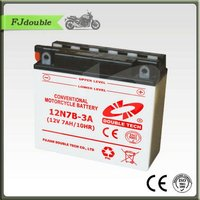 Standard Dry Charged Motorcycle Battery 12N7B-3A(12V 7AH) With High Quality