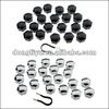 19mm chrome color wheel nut cover