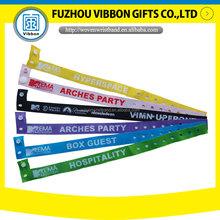 kontrollband woven polyester fabric wristband