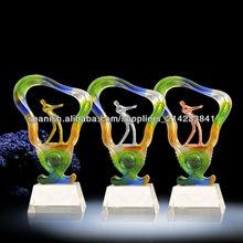 Trofeo de golf de esmalte de color, Trofeo de golf profesional de cristal