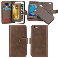 Flip Case Wallet Cover for Apple iPhone 6, PU Leather for iphone 6 Ultra Thin, SIM Card Slots for iPhone 6