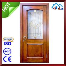 ไม้สักที่มีคุณภาพสูงรุ่นประตูหลักและประตูไม้ที่เป็นของแข็ง