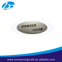 Oval cheap metal self adhesive metal nameplates