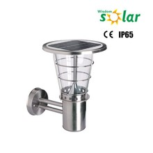 Stainless steel wall lamp outdoor with solar panel,House lights fixtures Wireless led wall lamp,Classic garden lamp JR-2602B