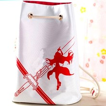 White Color Printed Polyester Top Design Game Gym Sack