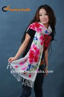 high quality printed wool scarf shawl schal
